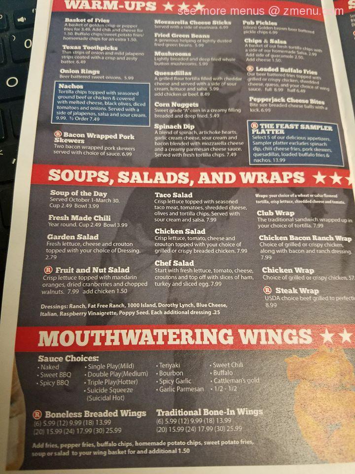 menu bar rivals grill restaurant zmenu hastings update