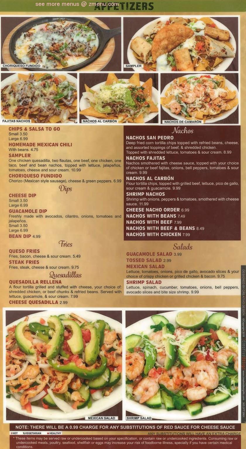 Online Menu of San Pedro Mexican Restaurant Restaurant, Kearney, Nebraska, 68847 - Zmenu