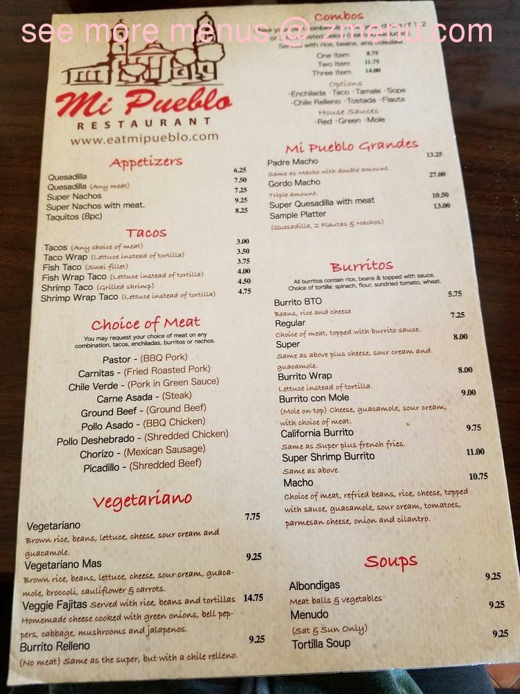 Online Menu of Taqueria Mi Pueblo Restaurant, San Anselmo ...