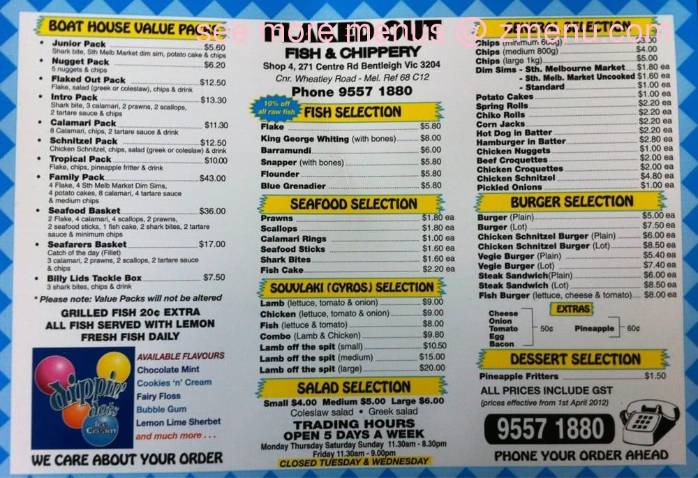 Online Menu Of Flaked Out Fish Chippery Restaurant Bentleigh Victoria 3204 Zmenu