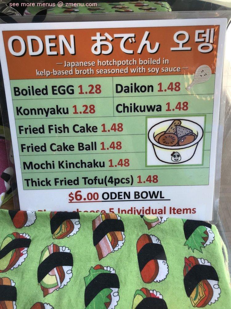 Online Menu Of Musubi Cafe Iyasume Restaurant Honolulu Hawaii 96814 Zmenu