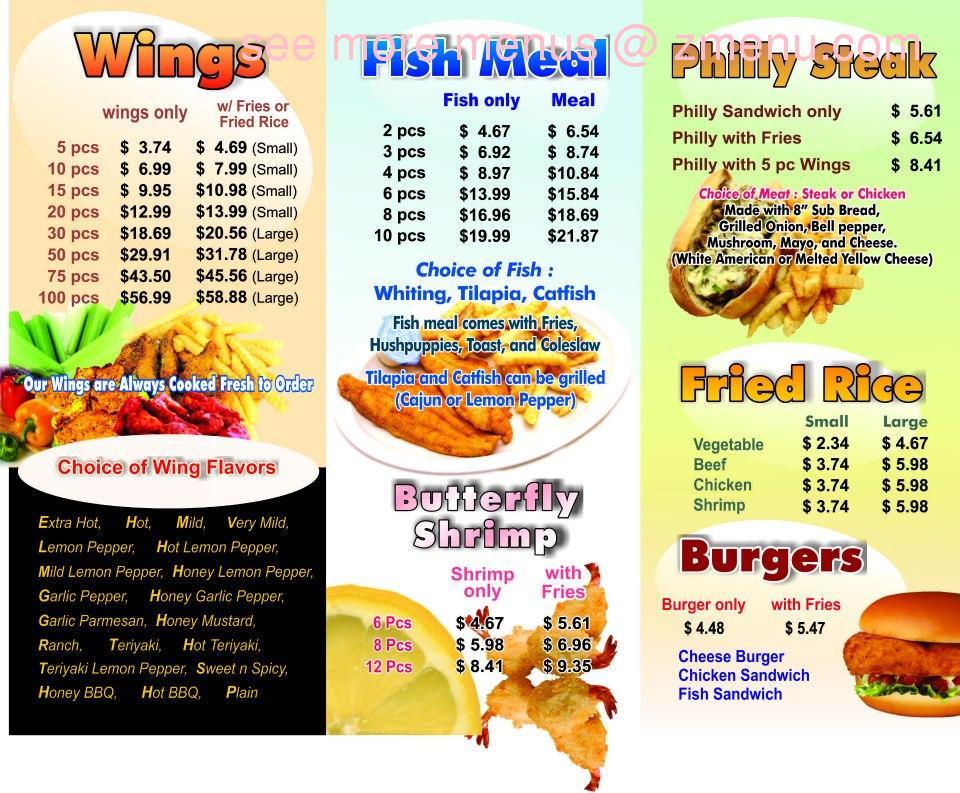 Online Menu Of A Town Wings Restaurant Augusta Georgia