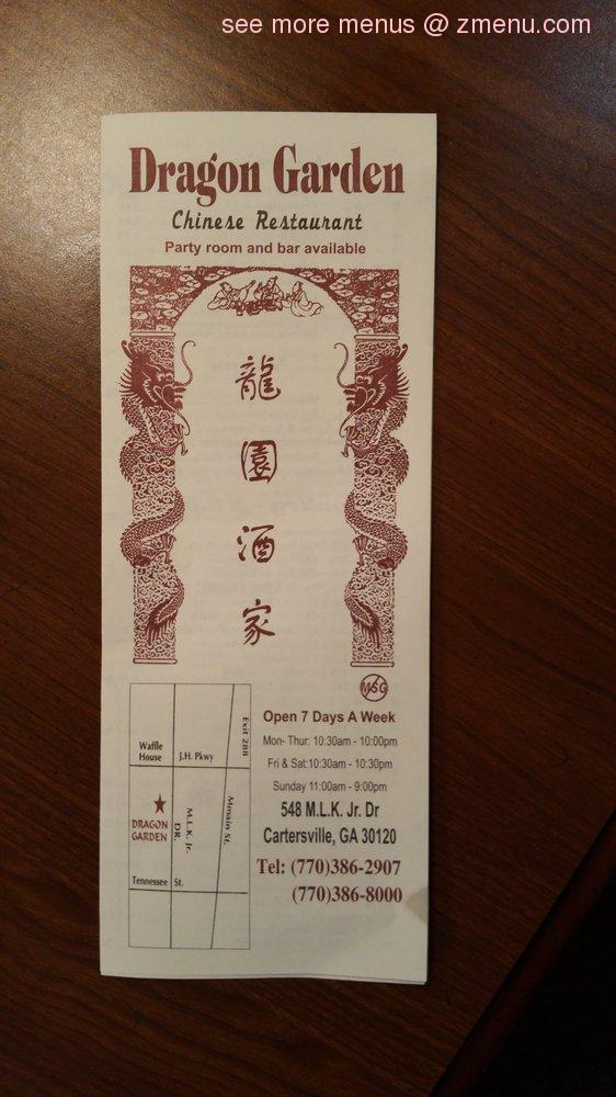 Online Menu Of Dragon Garden Chinese Restaurant Restaurant Cartersville Georgia 30120 Zmenu