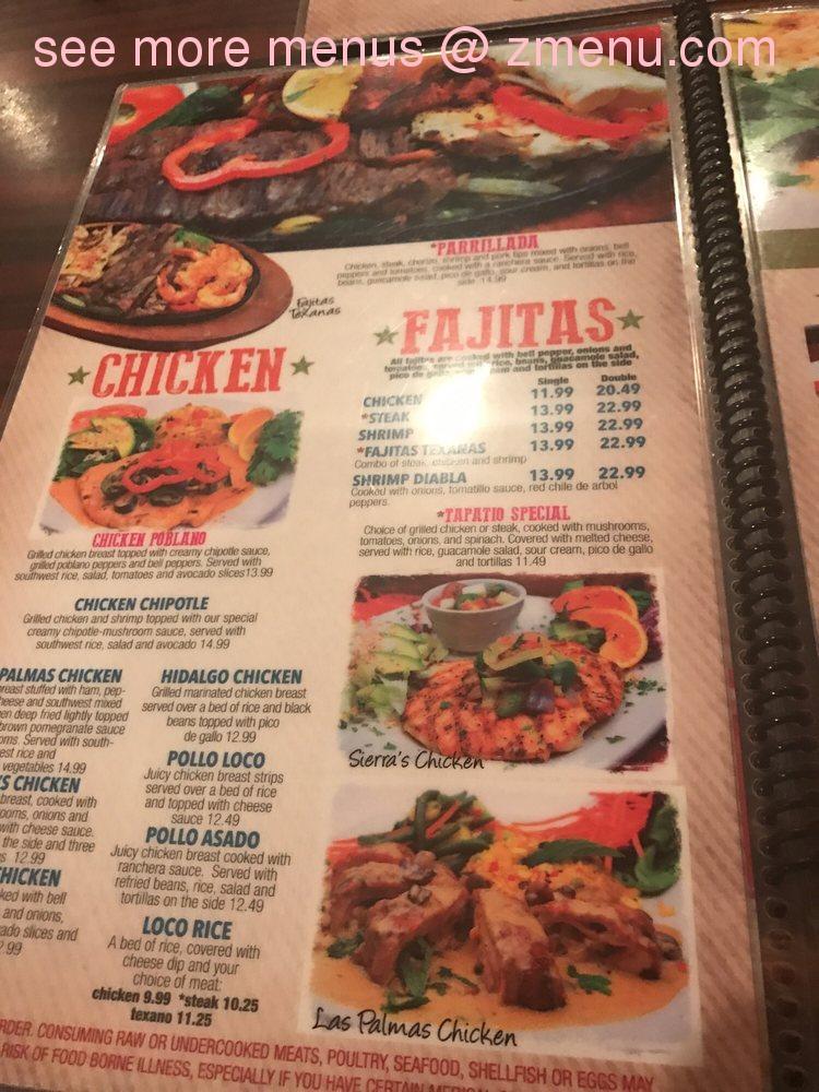 Online Menu of Las Palmas Restaurant, Dalton, Georgia, 30720