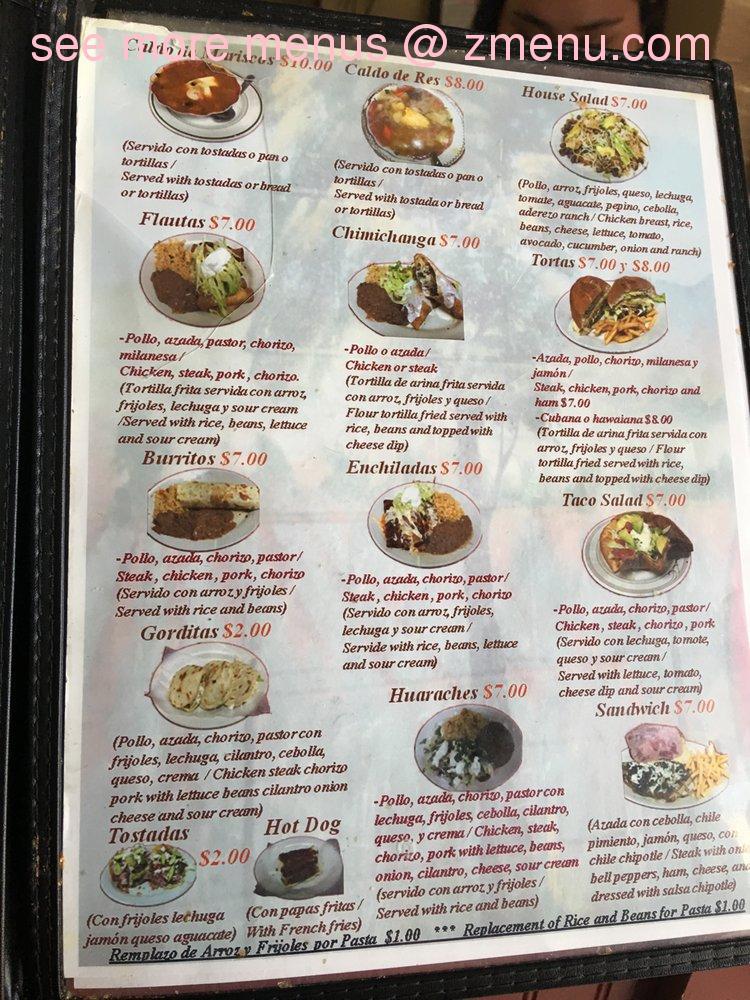 Online Menu of Alondras Mexican Restaurant Restaurant
