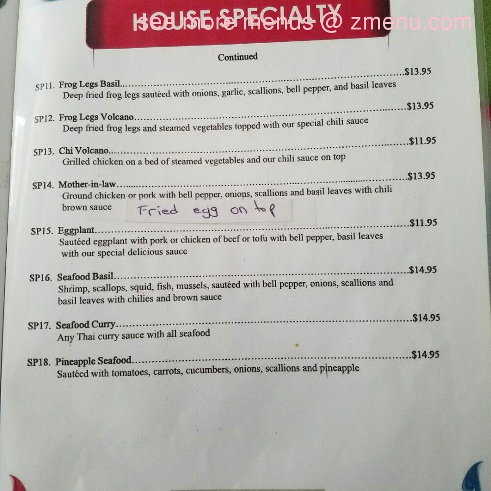 Online Menu of Thai Kitchen Restaurant, Evans, Georgia, 30809 - Zmenu