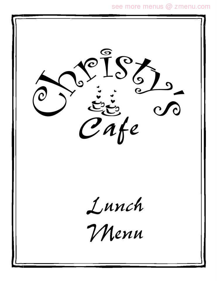 Christy Cafe Newnan Ga Menu