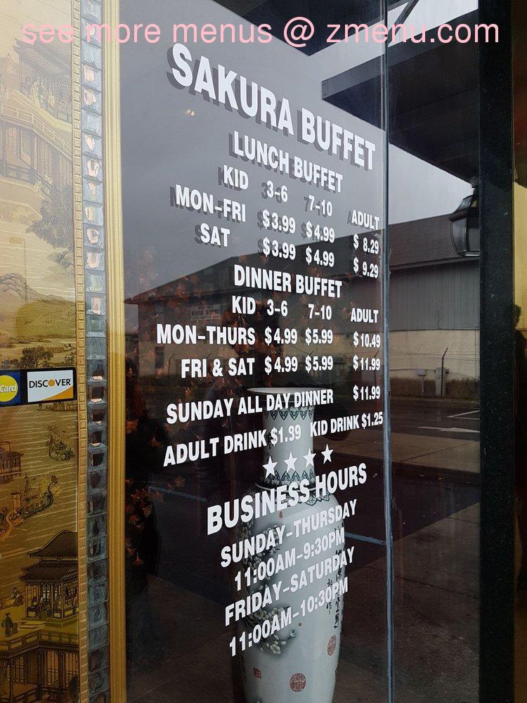 Surprising Online Menu Of Sakura Buffet Restaurant Savannah Georgia Interior Design Ideas Gentotryabchikinfo