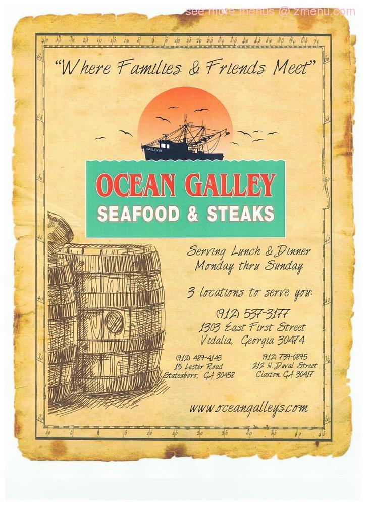 Online Menu Of Ocean Gallery Seafood Steaks Closed