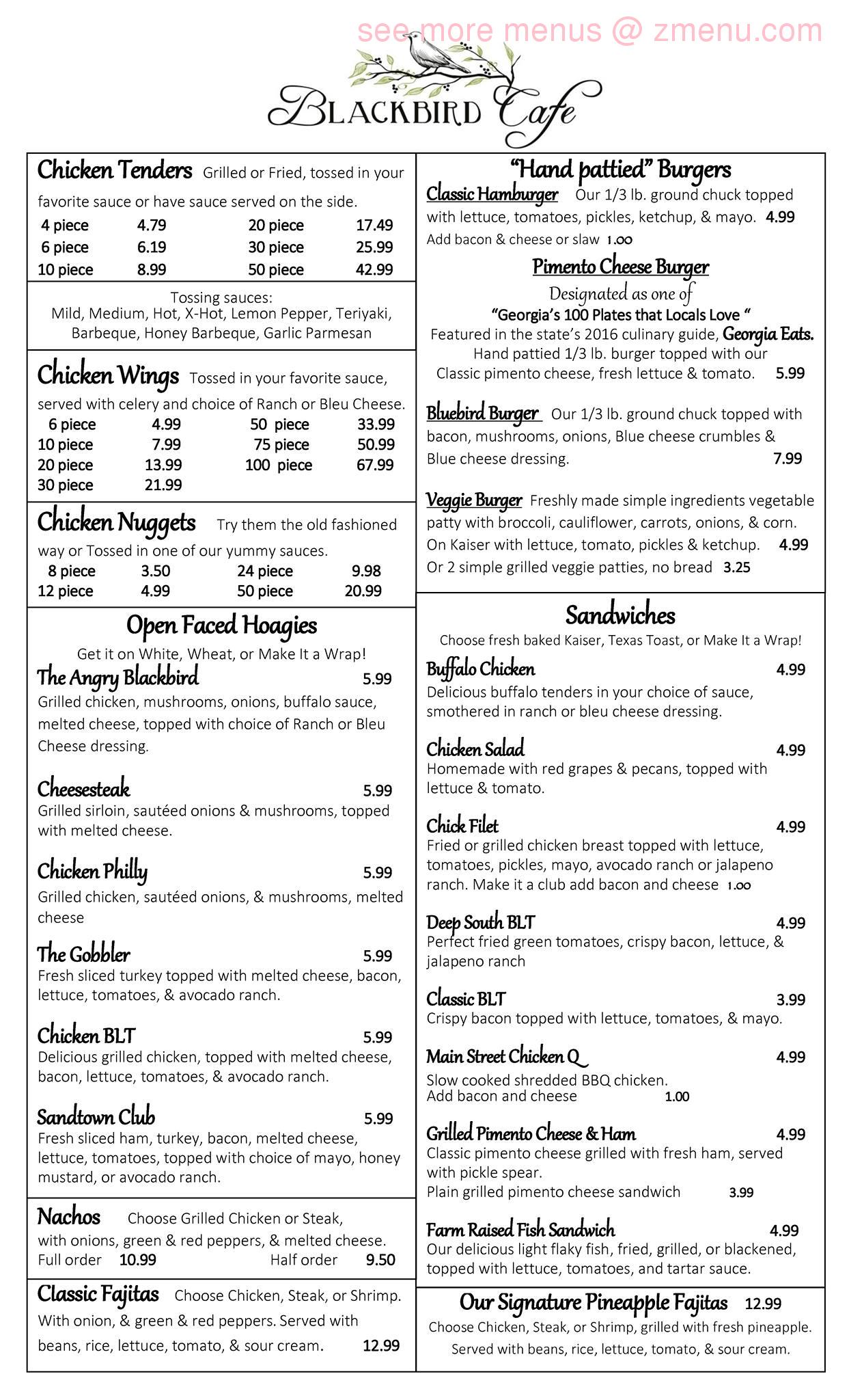 Blackbird Cafe Hours