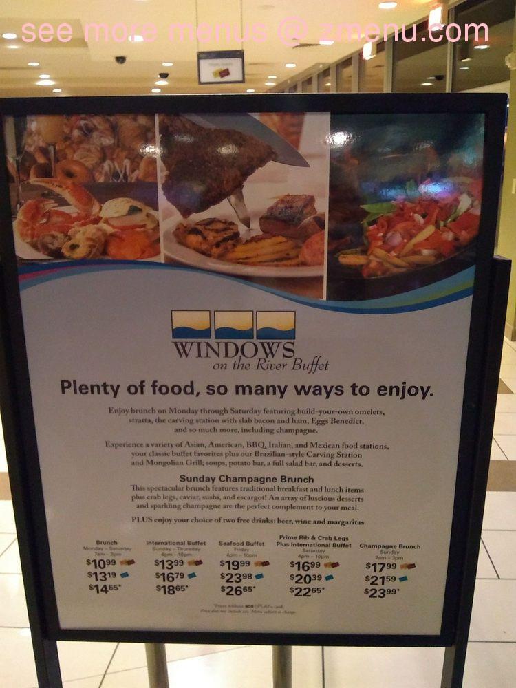 Pleasing Online Menu Of Windows On The River Buffet Restaurant Beutiful Home Inspiration Xortanetmahrainfo