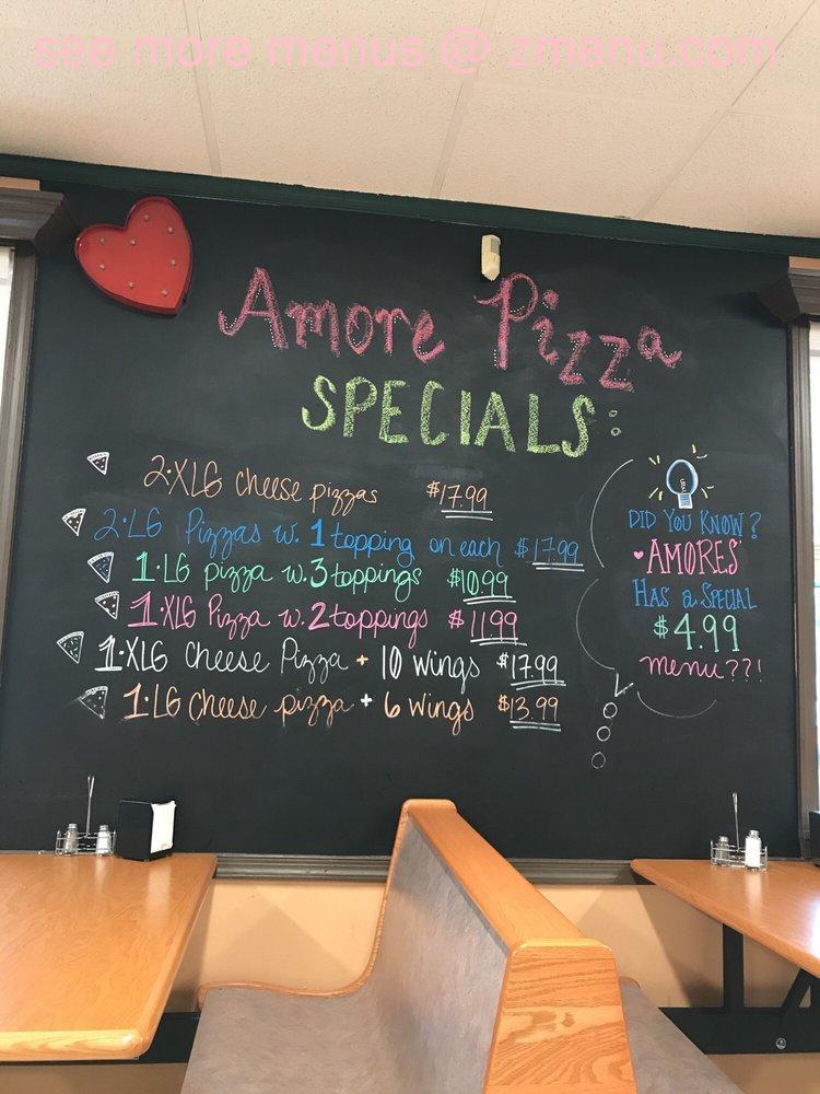Online Menu Of Amore Pizza Restaurant Newark Delaware