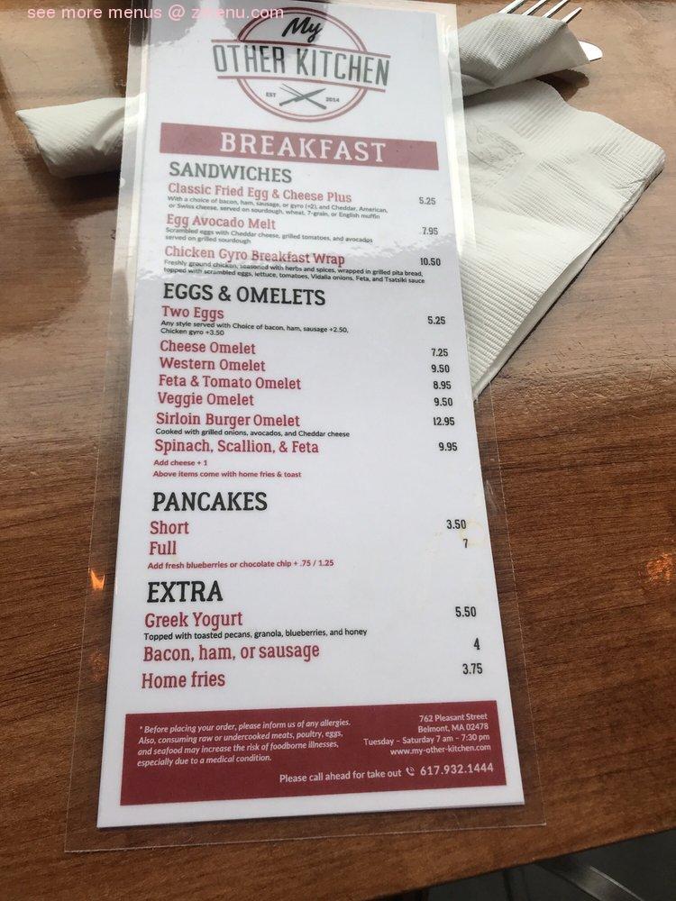 Online Menu Of My Other Kitchen Restaurant Belmont Massachusetts 02478 Zmenu