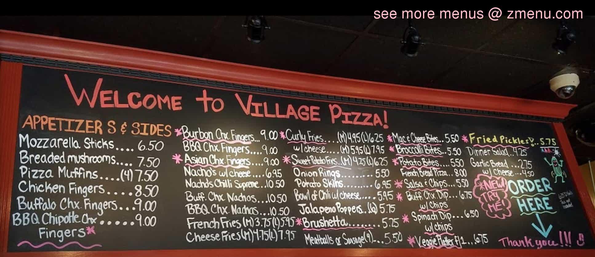 Online Menu Of Village Pizza Restaurant North Adams Massachusetts 01247 Zmenu