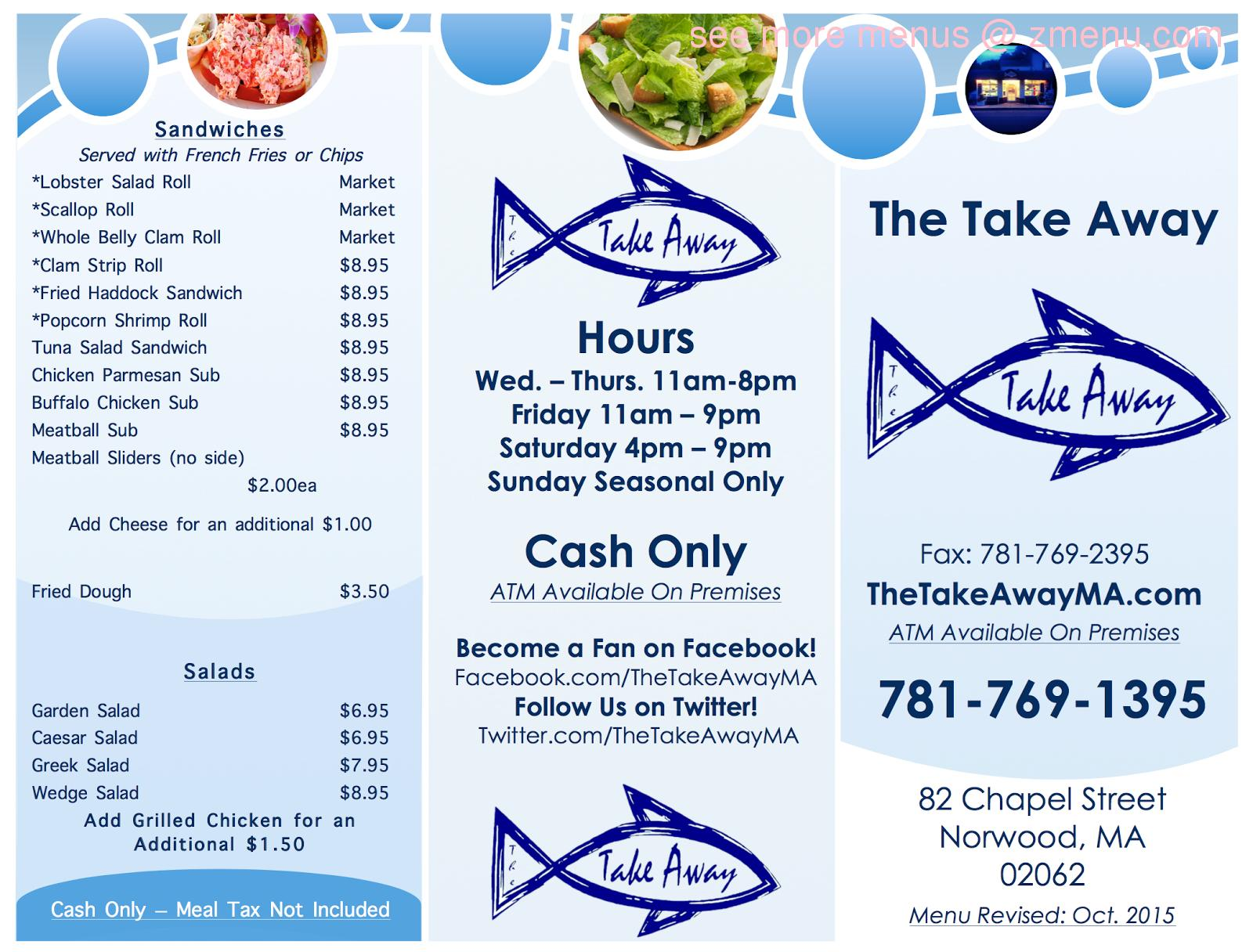 Online Menu Of The Take Away Restaurant Norwood