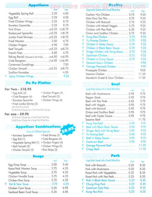 Online Menu Of Beijing Kitchen Restaurant Norwood
