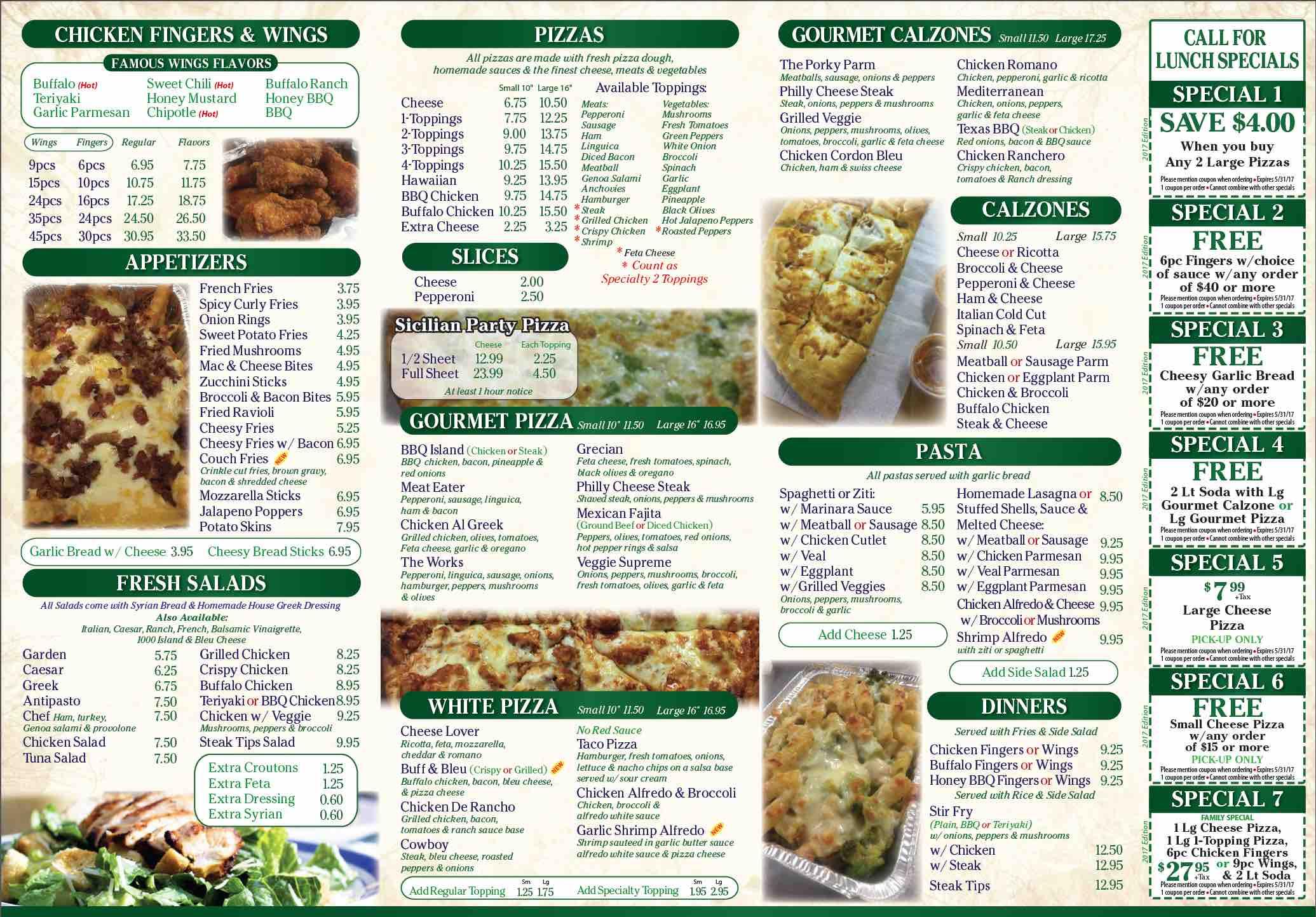 Online Menu of Bryantville Pizza Kitchen Restaurant, Pembroke ...