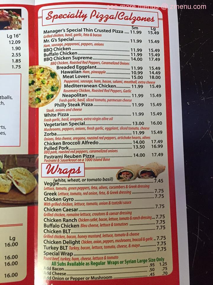 Dunkin Donuts Open Now: Online Menu Of Mr Gs Pizza Restaurant, Sagamore Beach