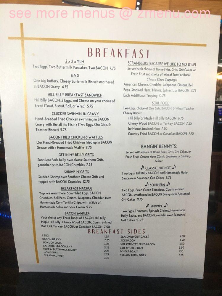 Online Menu of Darcis Bacon Blues Restaurant, Cape Canaveral