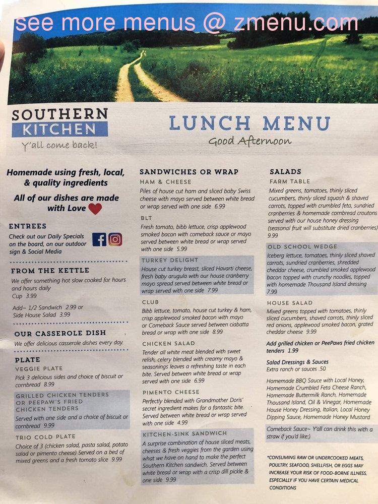Online Menu Of Southern Kitchen Mount Holly Restaurant Mount Holly North Carolina 28120 Zmenu