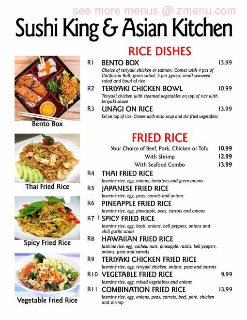 Online Menu Of Sushi King Asian Kitchen Restaurant Albuquerque