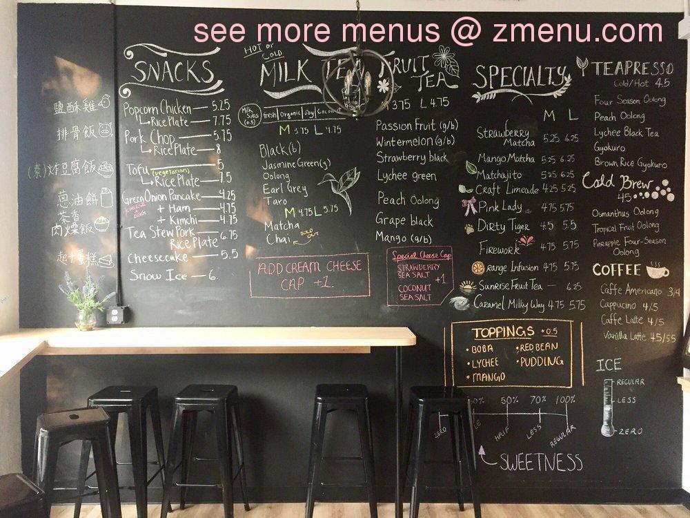 Online Menu of Cha House Restaurant, Chapel Hill, North ...