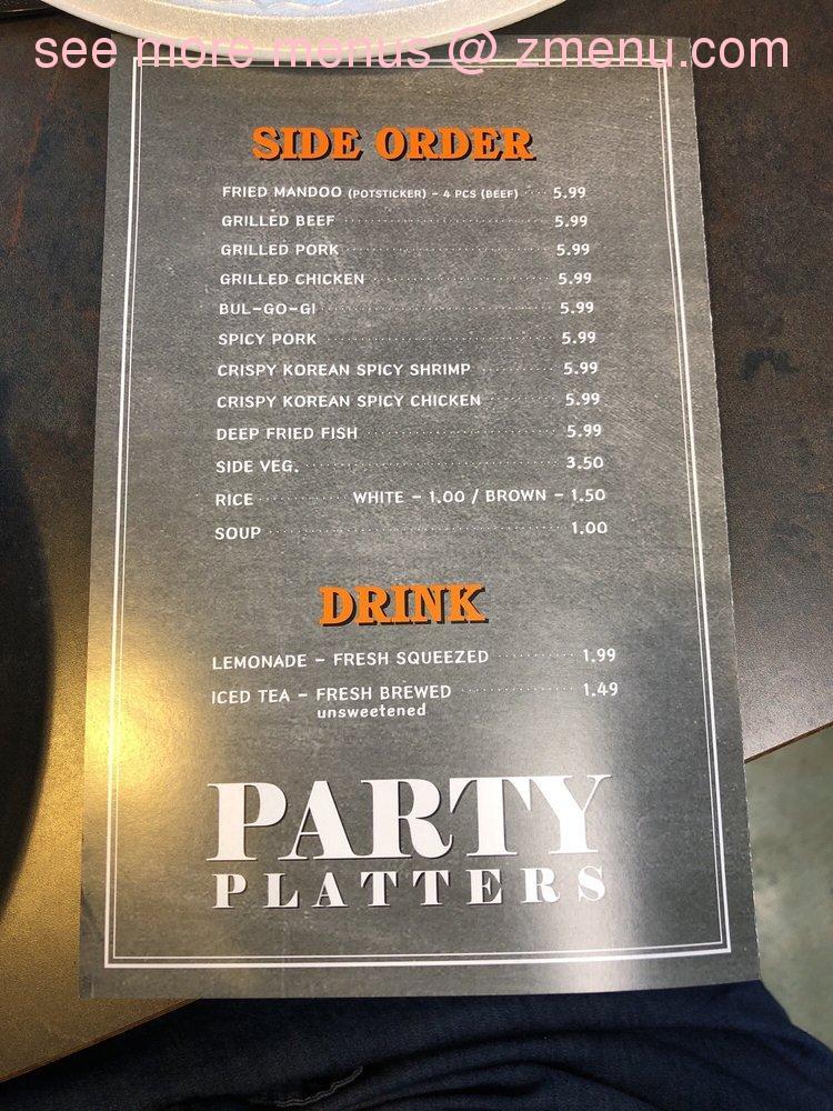 Online Menu Of Woos Kitchen Korean Grill Express Restaurant California Maryland 20619 Zmenu