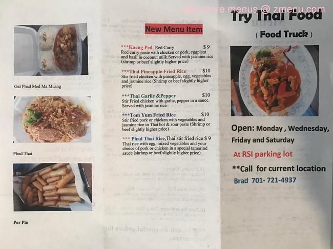 Online Menu Of Try Thai Food Restaurant Minot North Dakota