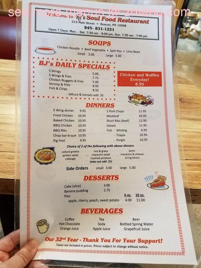Online Menu Of Bjs Restaurant Restaurant Beacon New York
