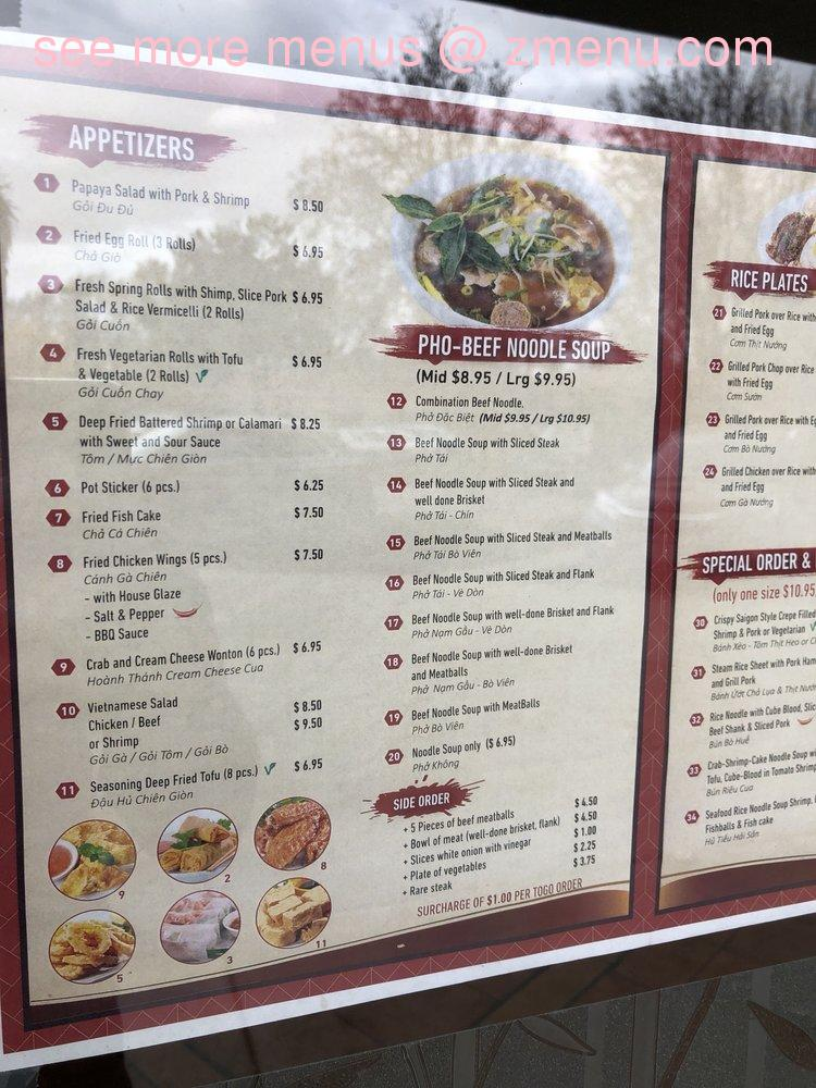 Online Menu Of Pho Viet Restaurant San Ramon California 94583 Zmenu