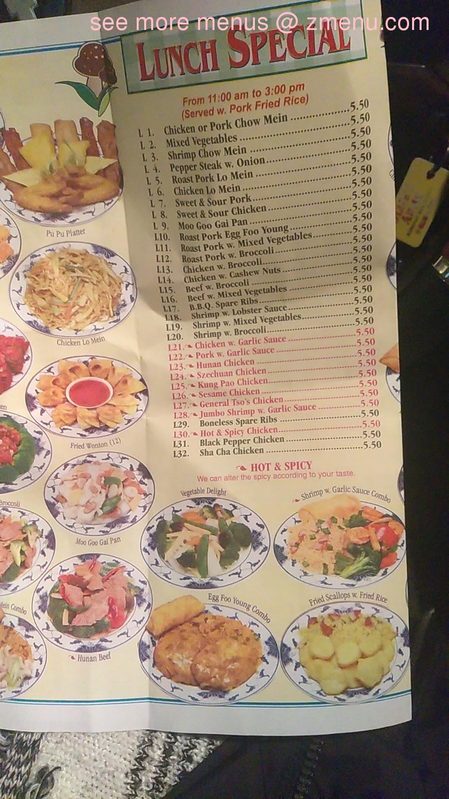 Online Menu Of China Kitchen Restaurant Buffalo New York 14212 Zmenu