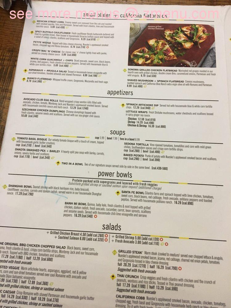 Online Menu Of California Pizza Kitchen At Kahala Mall