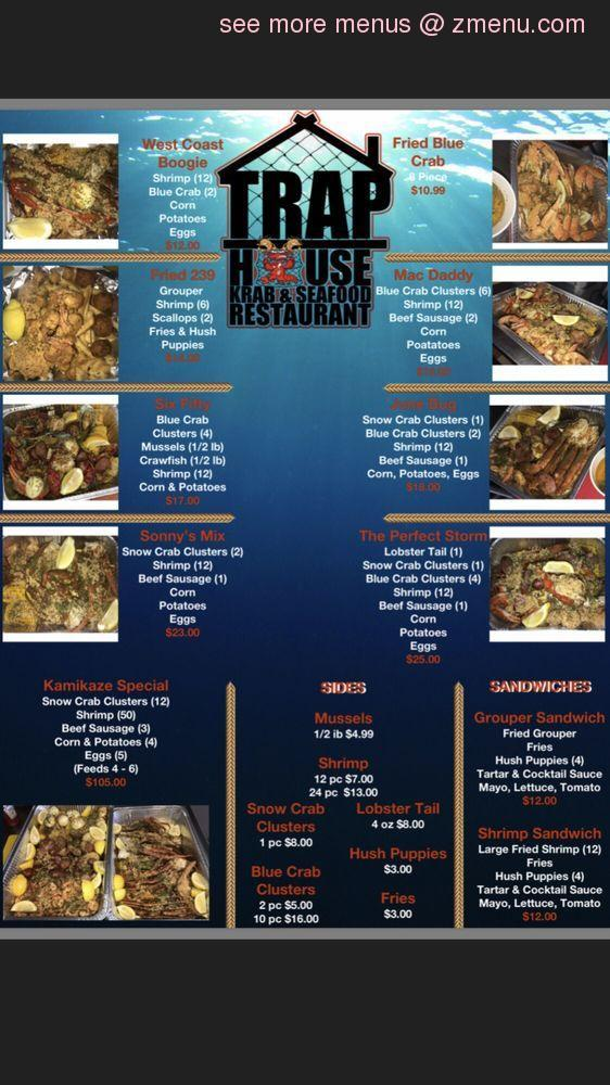 Online Menu of Trap House Krab and Seafood Restaurant, Fort Myers