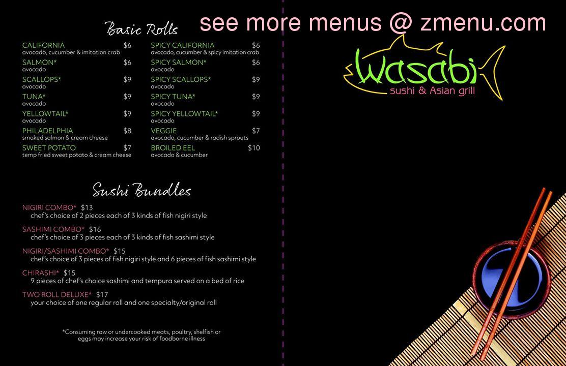 online menu of wasabi sushi asian bemidji restaurant bemidji minnesota 56601 zmenu online menu of wasabi sushi asian