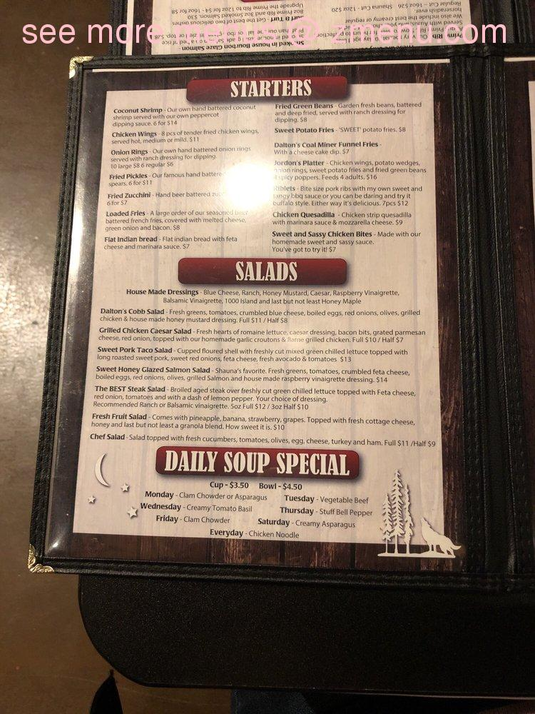 Online Menu of Daltons Steakhouse Restaurant, Lindon, Utah