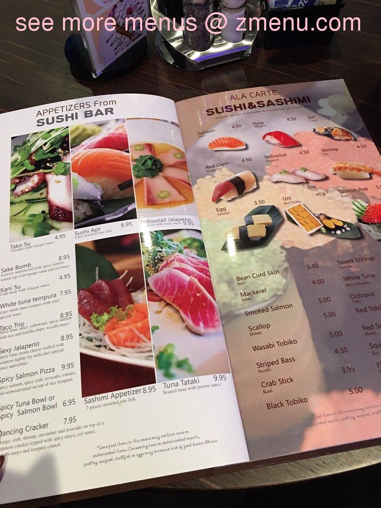 Online Menu Of Omizu Japanese Restaurant Restaurant Parma Ohio