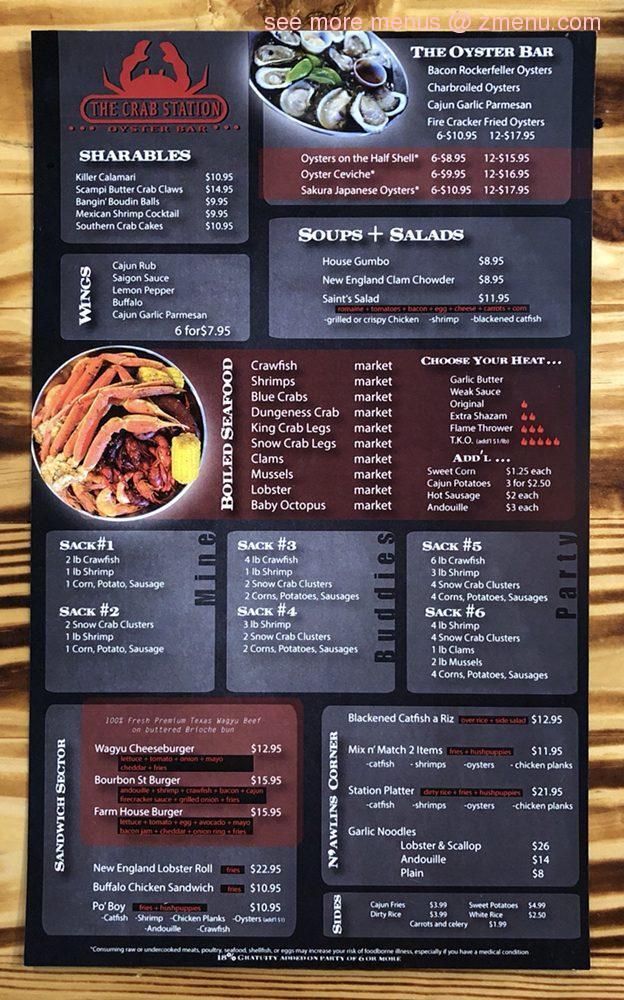 Online Menu of The Crab Station Restaurant, Houston, Texas