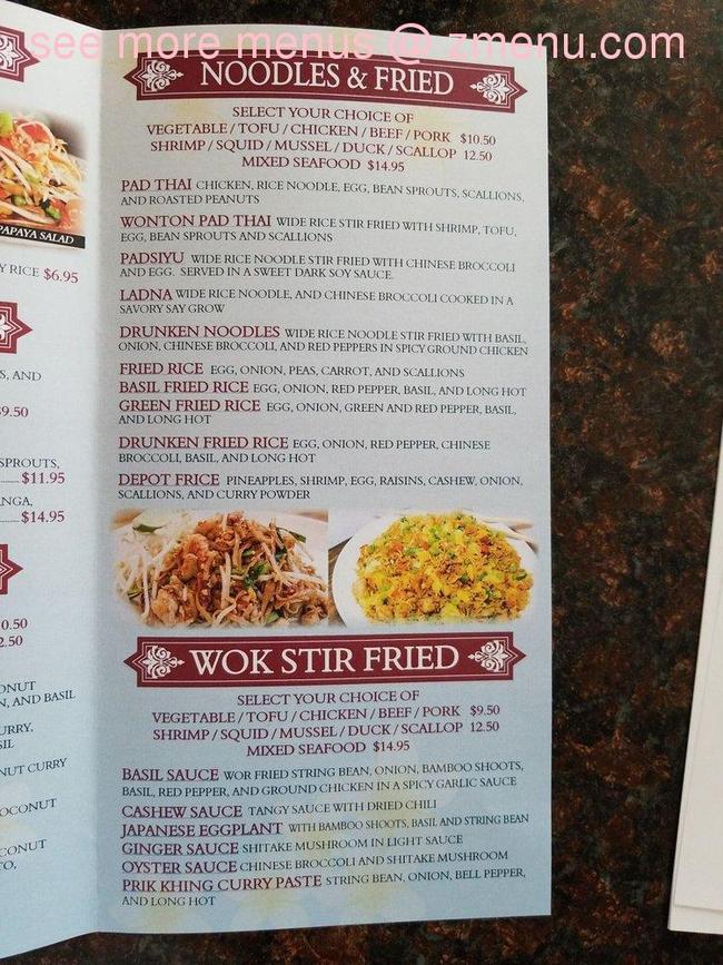 Online Menu Of D V Thai Restaurant Restaurant Woonsocket Rhode Island 02895 Zmenu