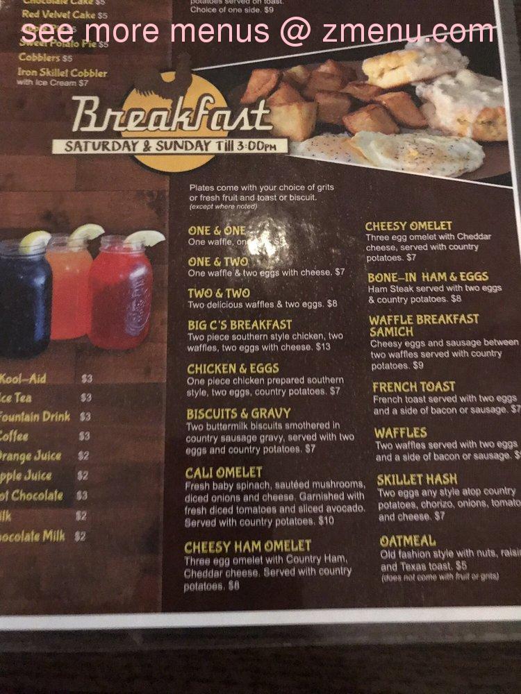 Online Menu Of Mr Cs Fried Chicken Amp Waffles Restaurant