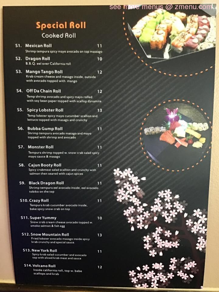 Online Menu of Yuki Sushi & Hibachi Restaurant, New Smyrna