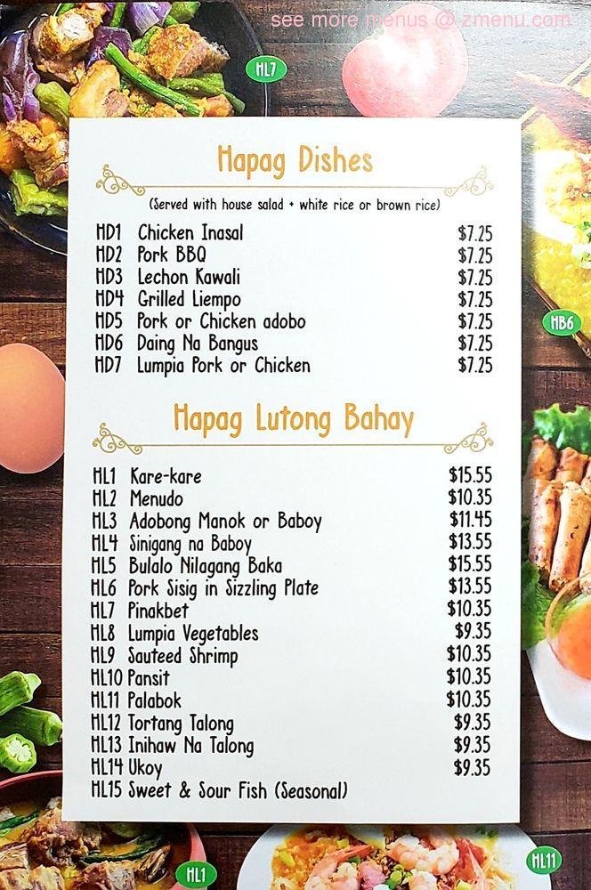 Online Menu of Hapag Filipino Cuisine Restaurant, Yonkers