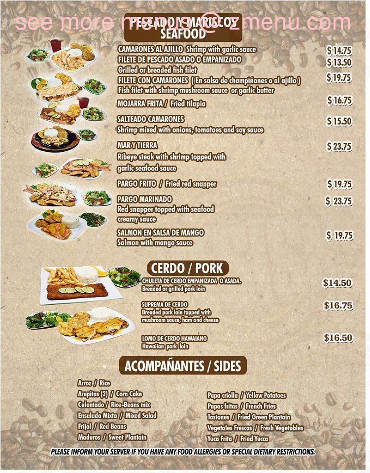 Online Menu Of Makondo Latin Restaurant Bar Restaurant