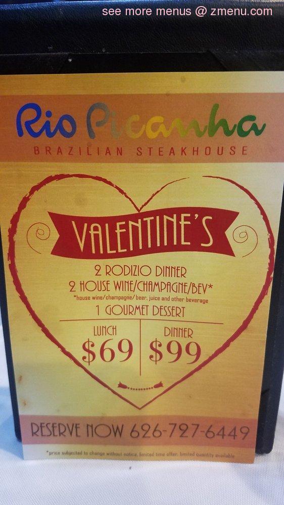 99+ menu brazilian steakhouse picanha rio covina west restaurant zmenu update