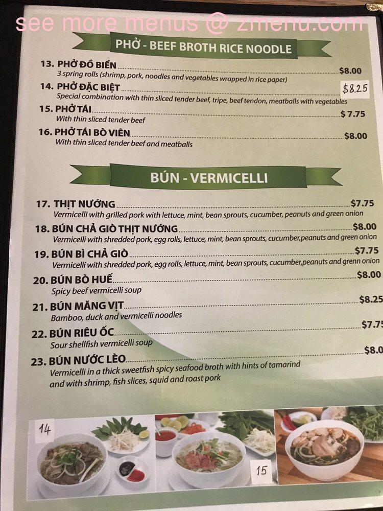 Online Menu Of Pho Vinh Long Restaurant Phoenix Arizona 85017 Zmenu