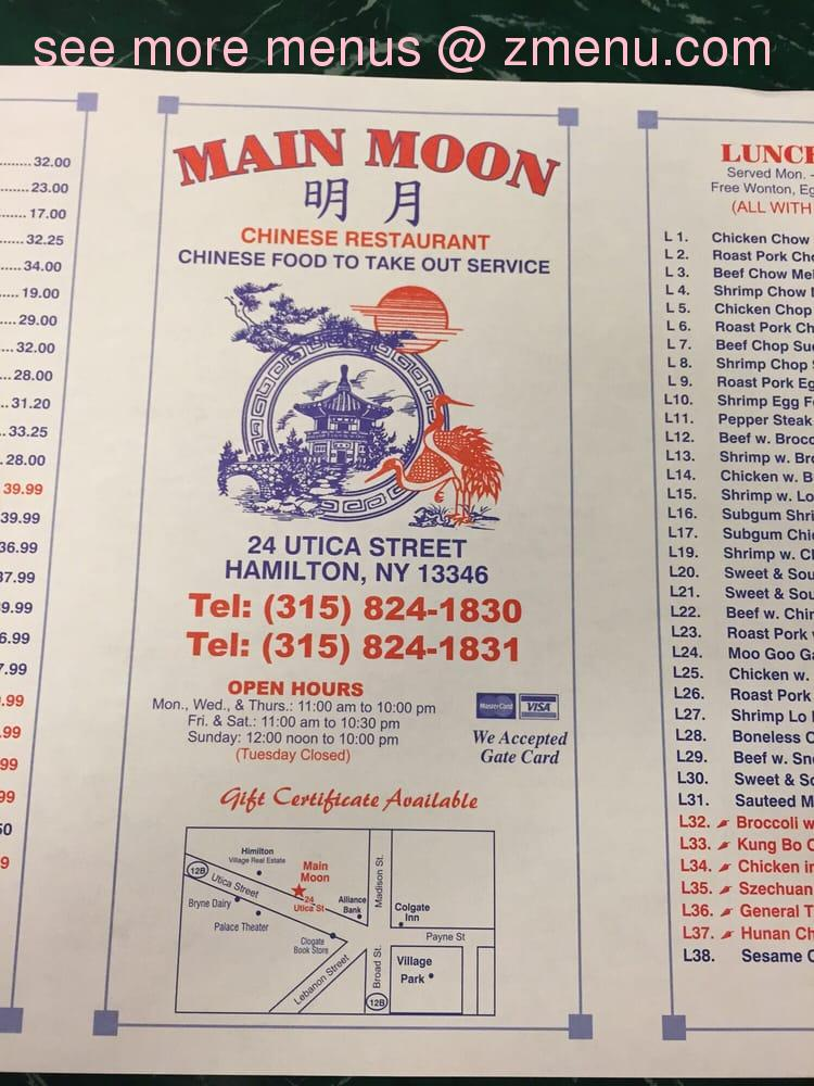 New Moon Restaurant Hours