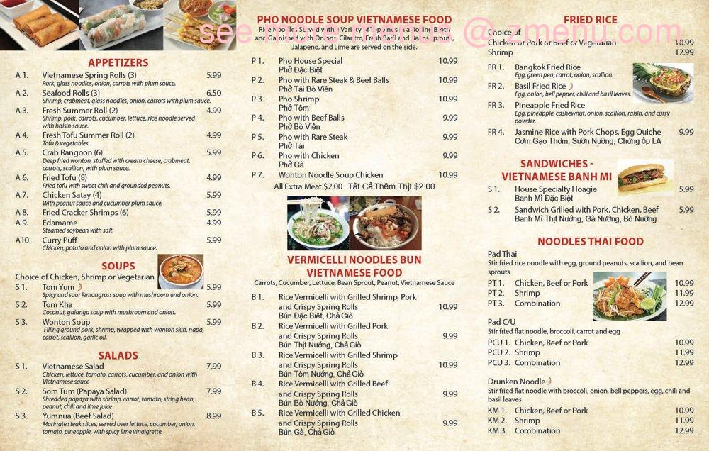 Online Menu of Pho Bowl Restaurant, Bethlehem, Pennsylvania