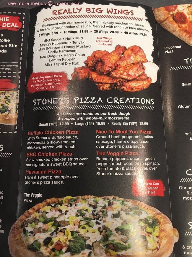 Online Menu Of Stoners Pizza Joint Restaurant Columbia