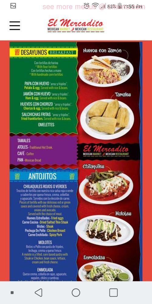 Online Menu of el mercadito Restaurant, Sicklerville, New Jersey