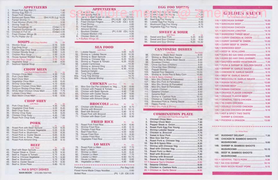 Chinese Kitchen Menu Prices