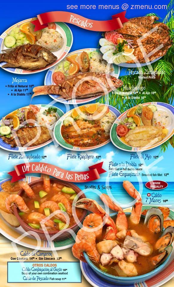 Online Menu Of Mariscos Las Islitas Restaurant San Jose